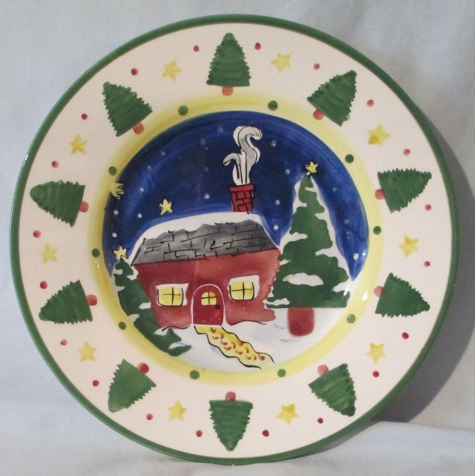 Insprado IDC Christmas Cabin Salad Plate set of 4 image 2