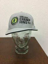 Nike Oregon Ducks Mens One Size Hat Gray Rose Bowl 2012 Champions Snapba... - $19.79
