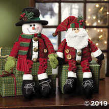 Dangle-Leg Santa & Snowman - Party Decorations & Room Decor  - $24.24