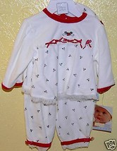 Vitamins Baby Adorable Girls 3 piece Christmas Set Outfit 6M 10-15lbs - $18.00