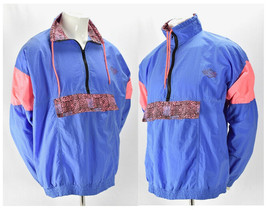 Beach Blvd Mens Vintage Pullover Half Zip Nylon Windbreaker light Jacket... - $54.40