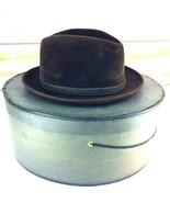 Vintage Brooks Brothers Mens Fedora Hat 7-1/8 Oval Brown Wool Felt Origi... - $59.39