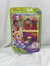 Pollyville Candy Store with 4 Floors, 2 Dolls and 5 Accessories - $70.13