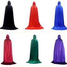 Vampire Cloak Hooded Cape Robe Velvet Halloween Costume Medieval Witch C... - $19.34+