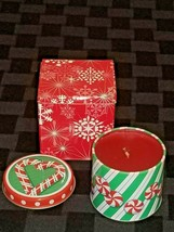 "Avon Peppermint Delight "" Scented Holiday Treats 2.5"" Candle   New! 2003 - $12.86"