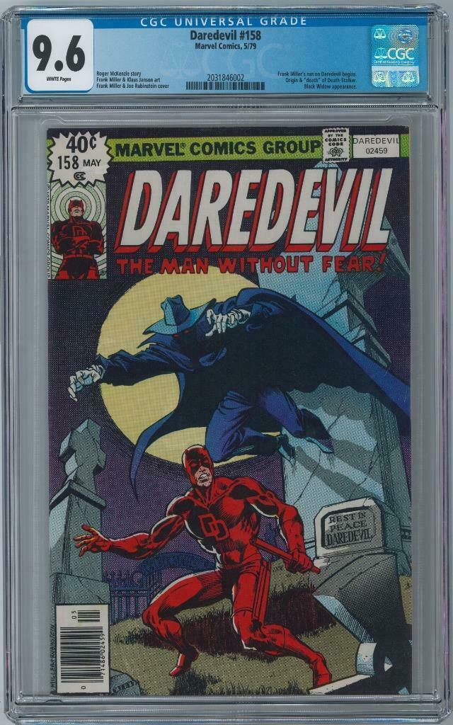 DAREDEVIL #158 - CGC Graded 9.6 - White Pages - First Frank Miller