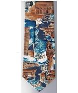 Braemore 100% Silk Necktie Antiquities Rome Buildings Statues - $15.76