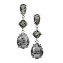 Avon Autumn Romance Drop Earrings in Grey & Black - $16.83