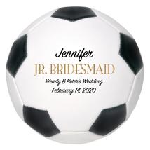 Jr. Bridesmaid Regulation Soccer Ball Wedding Gift - Personalized Weddin... - $59.95