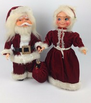 "13"" Santa & Musical Mrs Claus VTG Celluloid Face Christmas Decor Kitsch ... - $49.49"