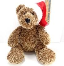 "Aurora Plush Stuffed Animal Christmas Santa Hat Teddy Bear Holiday 12"" - $10.68"