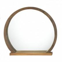 Round Wooden Mirror With Shelf - $51.56