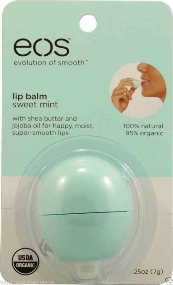 EOS organic LIP BALM, green sweet mint