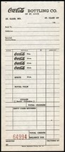 Vintage receipt COCA COLA BOTTLING CO OF ST LOUIS St Clair Missouri 1960... - $6.29