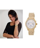 New + Box women's MICHAEL KORS MK6132 RITZ Gold Tone Steel Watch Chronog... - $117.81