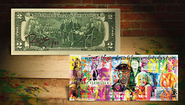 PLAYBOY Hugh Hefner OFFICIAL $2 U.S. Bill SIGNED by RENCY Numbered of 91... - $38.61