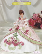 Rose, Annie's Glorious Gowns Flower Garden Crochet Doll Clothes Pattern ... - $7.95