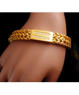 "Stunning CZ  ID bracelet / 8 1/2"" long - women or  mens Birthday / Gift ... - $75.00"