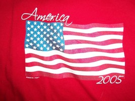 Red Sonoma America 2005 Patriotic US American T Shirt L Free US Shipping - $18.85