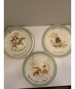 Set of 3 HOLLY HOBBIE Vintage Collector's Edition Plates Various Designs... - $23.99