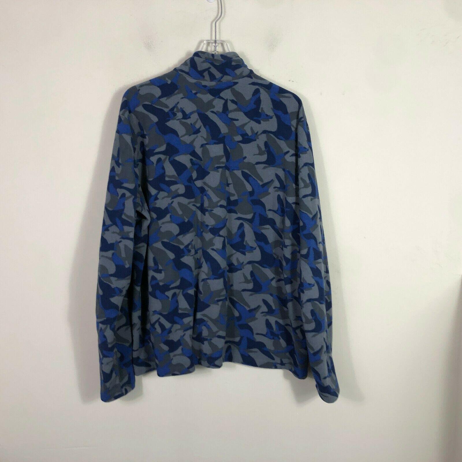 Eddie Bauer First Ascent Fleece Jacket 1/2 Zip Men's 2XL Blue Gray Long Sleeve image 2