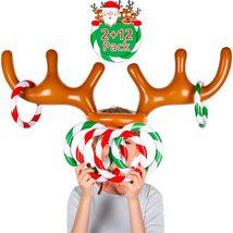 Christmas Inflatable Reindeer Antler Game 2Reindeer Antler Hat with12 R... - $18.00