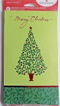 6 Holly Berry Tree Christmas Money Gift Card Holders & Envelopes - $3.99