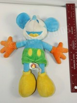 """Disney Parks 10"""" Blue Yellow Mickey Mouse Stuffed Plush Toy With Original Tags image 2"""