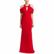 Badgley Mischka Strappy Cold Shoulder Gown/Dress RED or BLACK image 2