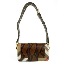 "Burberry Patchwork ""The Clandon"" one of a kind bag python snakeskin & check bag image 2"