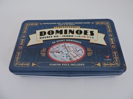 Cardinal Collectors Dominoes Double Six Jumbo Color Dot Starter Piece Included - $15.15