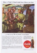1943 Coca Cola WWII Fighter Pilot ~ Chinese ~ military plane Print Ad - $14.99