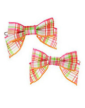 Cherry Baby Gymboree NWT Plaid Bow Barrettes  - $7.99