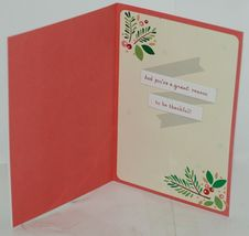 Hallmark XZH 623 1 Foliage Pink Red Berries Christmas Card Package 4 image 3