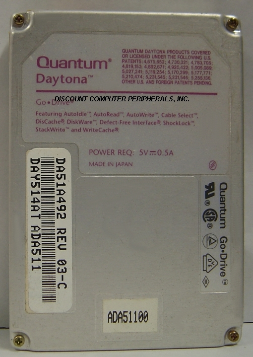 514MB 2.5 IDE SLP 4500 RPM DAYTONA QUANTUM DA514AT Free USA Ship Our Drives Work