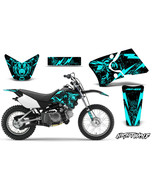 Yamaha TTR 90 Dirt Bike Graphic Sticker Kit Decal Wrap MX 2000-2007 NIGH... - $98.77