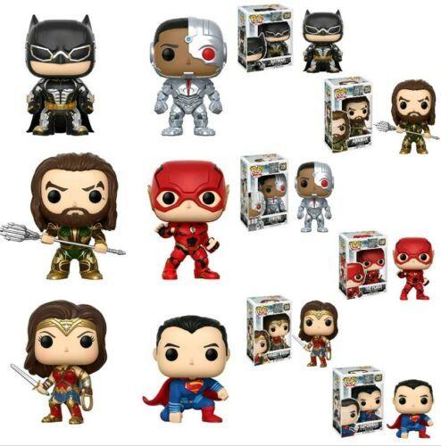 Funko Pop! Justice League Set of 6 Flash Aquaman Cyborg Superman Wonder Woman