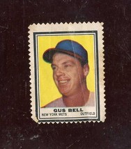 1962 TOPPS STAMPS GUS BELL POOR CREASES *A4652  - $2.48