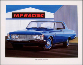 1963 Plymouth Belvedere 426 Wedge Art Print Lithograph - $15.13