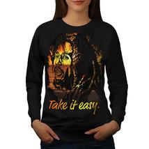 Take it Easy Marley Rasta Jumper Bob Marley Women Sweatshirt - $18.99