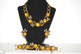 Dior Attributed Vintage Matching Necklace Bracelet Earring Set - $589.00