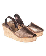 Maria Barcelo Brown Copper Leather Sling-Back Sandal Size 10 (NEW) - $109.00