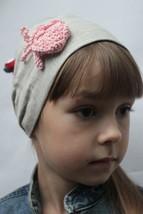 Linen organic Headscarf Headband, Hair Band Headscarves with  multi-coloured cro - $10.00
