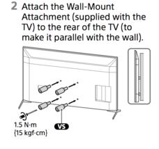 SONY XBR49X800H 55X800H 65X800H Vesa Spacer TV WallMount Attachment 5-00... - $39.59