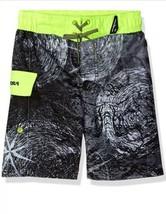 ZeroXposur Boys M 10-12 Swim Trunks Surf Board Shorts UPF 50 Black Micro... - $22.27