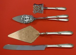 Sweetheart Rose by Lunt Sterling Silver Dessert Serving Set 4pc Custom Made - $299.00