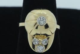 Vintage (ca. 1950) 14K Yellow Gold Diamond Jockey Cap Ring w/ Diamonds (... - $775.00