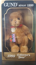 Vintage 1989 GUND Collector's Bear - $19.99