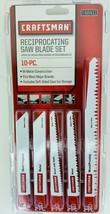 Craftsman 10 pcs Reciprocating Saw Blade Set 966411 Bi-Metal Metal Wood Pvc - $37.95