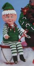 Elf, Fibre Craft Christmas Air Freshener Doll 3419 NEW RARE with Crochet Pattern - $14.95